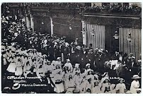 Morris Dancers processing though Kingston in 1911