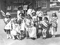 Bonner Hills School Empire Day 1922 with a tableau of Britannia and her Colonies